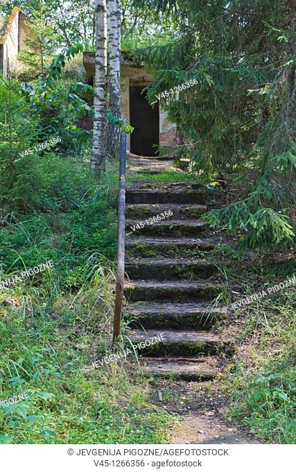 Bijusi PSRS Zeltenu kodolrakesu baze, Former USSR Zelteni nuclear missile base, Zeltini parish, Aluksne Municipality, Vidzeme, Latvia