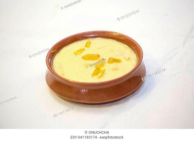 Kheer or Fereni (Persian: ????) is a rice pudding from the cuisine of the Indian subcontinent ... It is typically served during a meal or as a dessert