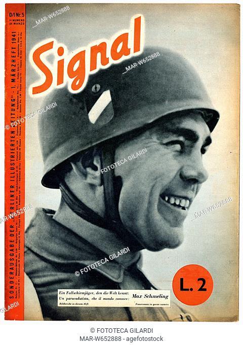 SECONDA GUERRA MONDIALE Italia-Germania. -Un paracadutista che il mondo conosce: Max Schmeling- (1905 -2005), pugile tedesco