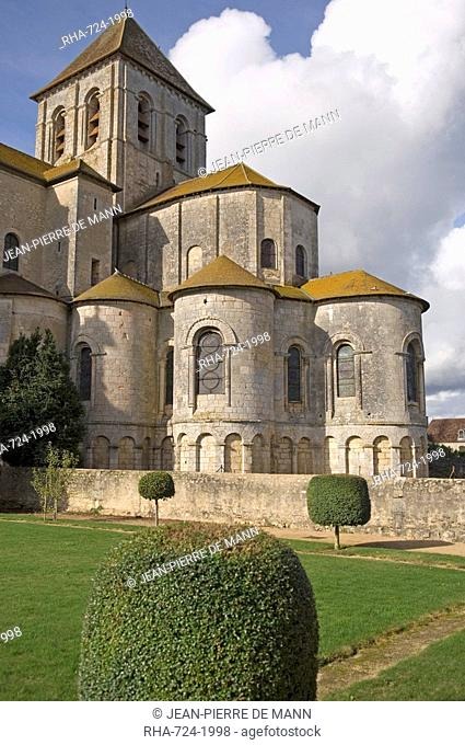 Abbey church of Saint-Savin sur Gartempe, known as the Romanesque Sistine Chapel, contains many 11th and 12th century murals, UNESCO World Heritage Site, Vienne