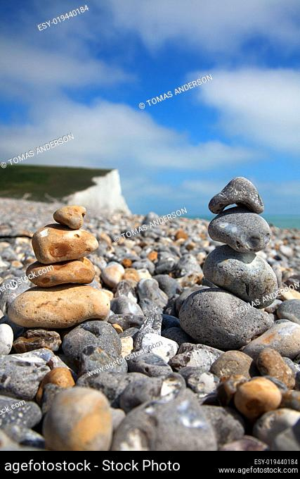 Pebble stack on beach