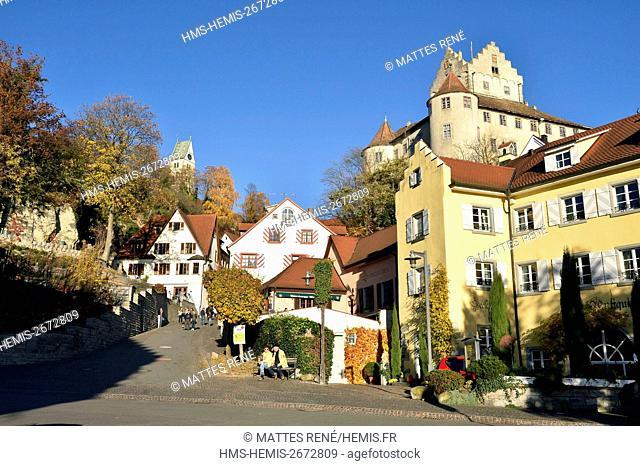 Germany, Baden Wurttemberg, Lake Constance (Bodensee), Meersburg, Altes Schloss (Old castle), Burg Meersburg