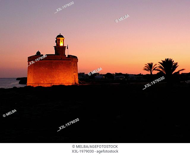 Defence tower. Menorca island. Balearic islands. Spain