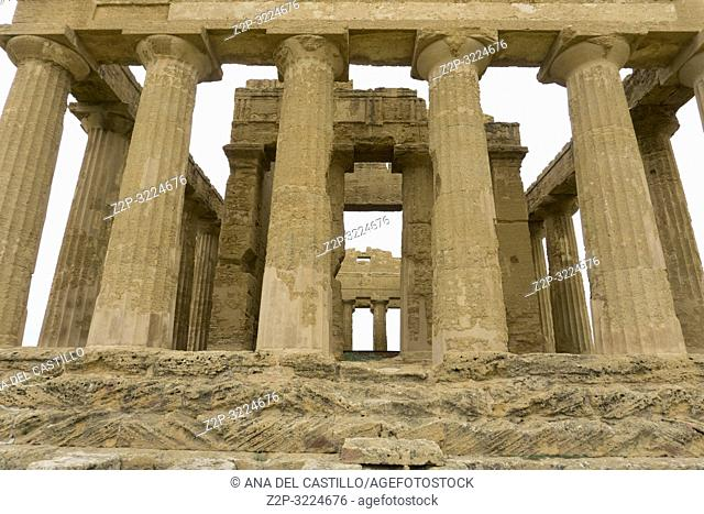 Concordia temple in the Valley of the Temples, Agrigento Sicily Italy on October 11, 2018