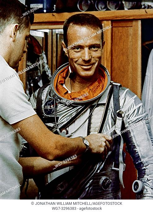 File photo dated 22 May 1962 of NASA astronaut a Malcolm Scott Carpenter - the prime pilot for the Mercury-Atlas 7 flight