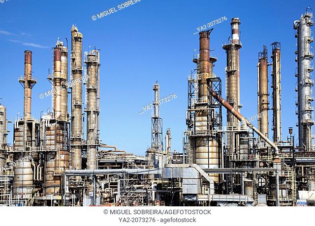 Gas Refinery at Pula in Southern Sardinia