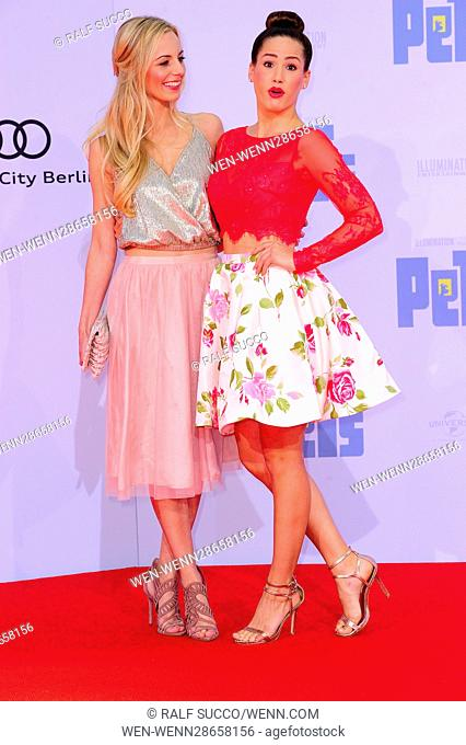 German premiere of 'Pets' at CineStar IMAX Sony Center at Potsdamer Platz. Featuring: Syra Feiser, Angelina Heger Where: Berlin