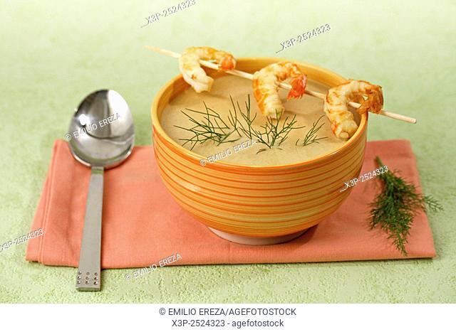 Prawns soup