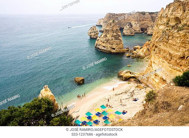 Marina beach in Lagoa Algarve Portugal