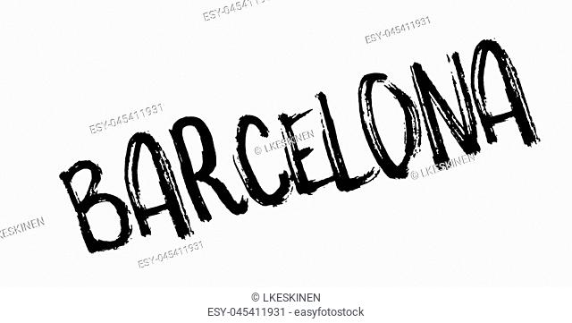 Barcelona rubber stamp. Grunge design with dust scratches. Effects can be easily removed for a clean, crisp look. Color is easily changed