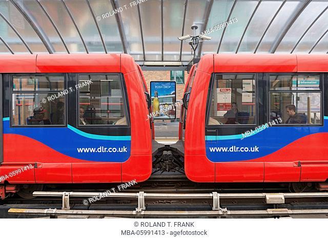 England, London, docklands, railway station Crossharbour
