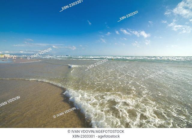 Black sea beach, Anapa, Krasnodar region, Russia