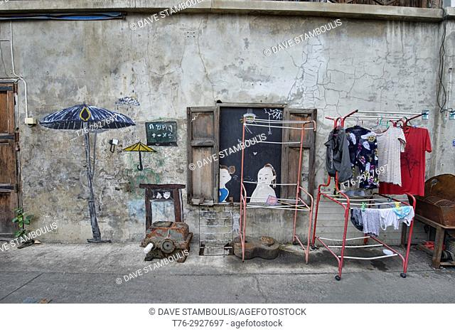 Street art, Bangkok, Thailand