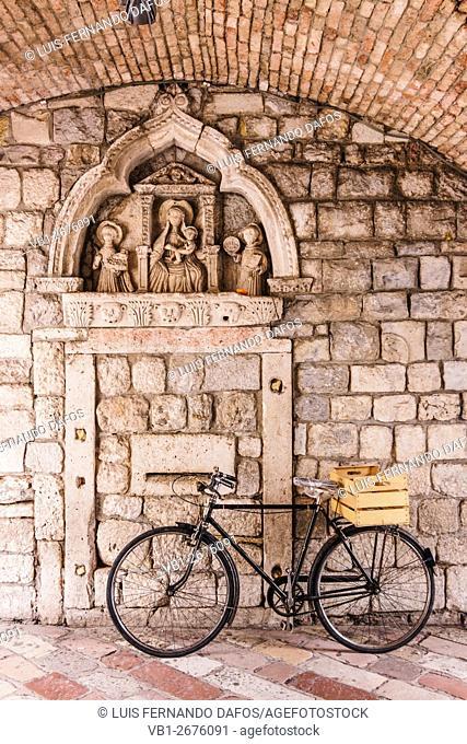 Passage at Kotor old town. Montenegro