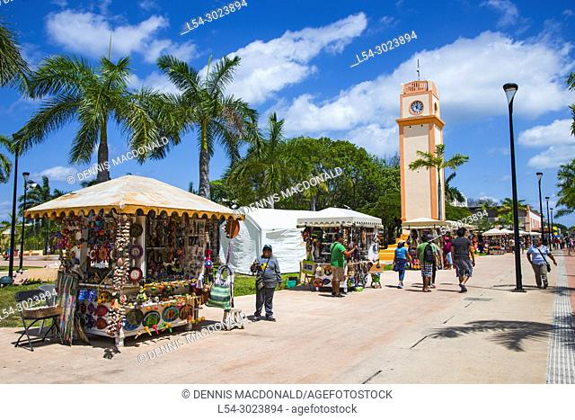 Benito Juarez Plaza in Cozumel Mexico is a popular cruise destination in the western caribbean