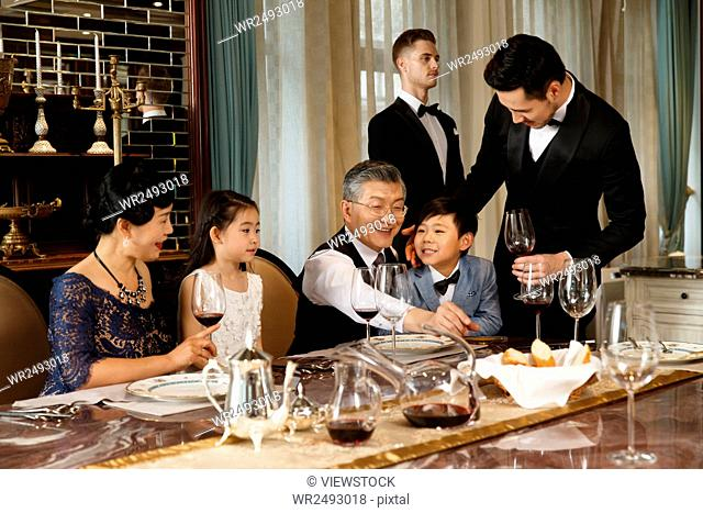 Aristocratic family dinner