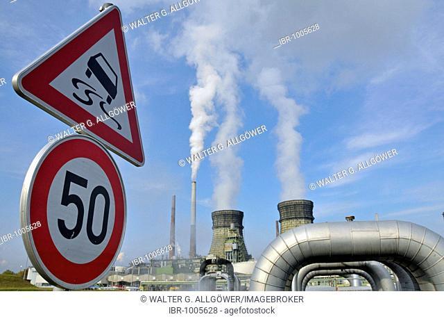 Rheinland Raffinerie-Werk Nord, Shell Germany, oil refinery, Wesseling, North Rhine-Westphalia, Germany, Europe