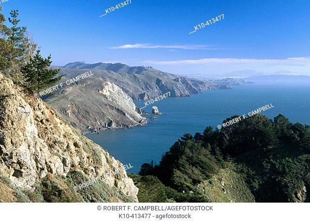 Muir beach. Golden Gate National Recreation Area. California. USA