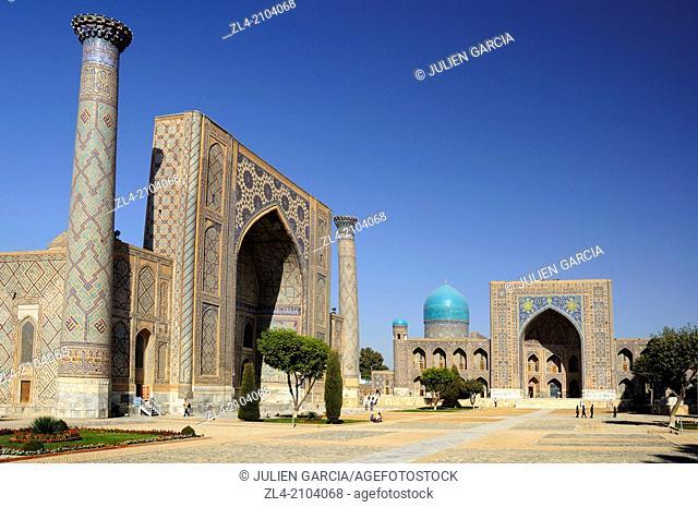 The madrasas of the Registan. Uzbekistan, Samarkand