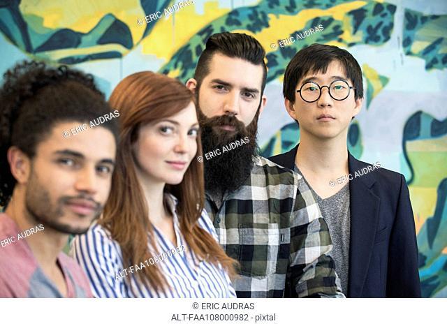 Group of aspiring colleagues, portrait