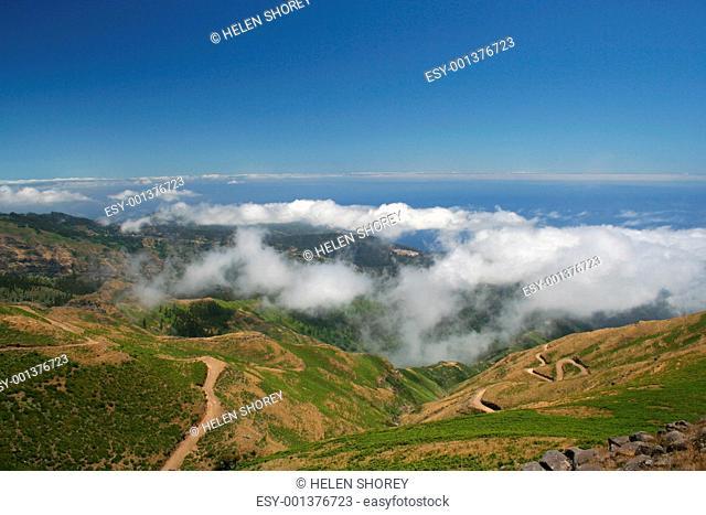 view from Paul de Serras road
