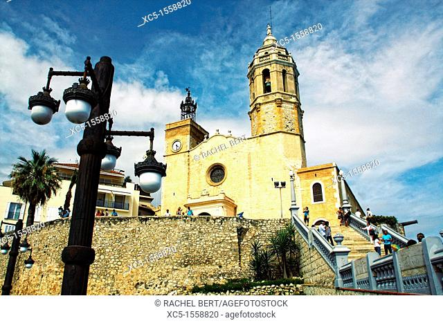 Church of Sant Bartomeu, Sitges, Barcelona, Catalonia, Spain