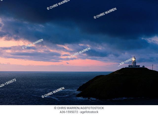 Lighthouse at Strumble Head Fishguard Pembrokeshire Wales