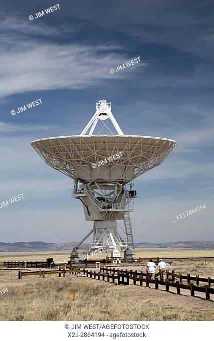 Datil, New Mexico - The Very Large Array radio telescope consists of 27 large dish antennas like this one on the Plains of San Agustin in western New Mexico