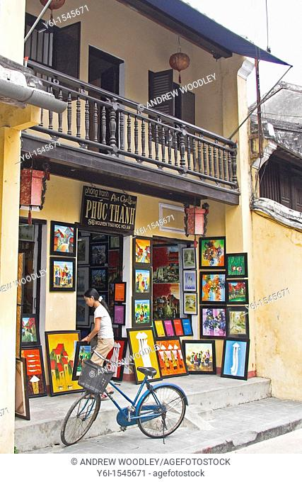 Art gallery with balcony Hoi An historic town mid Vietnam