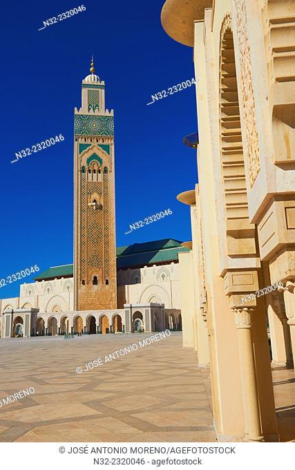 Casablanca, Hassan II Mosque, Morocco, North Africa, Maghreb, Atlantic Coast