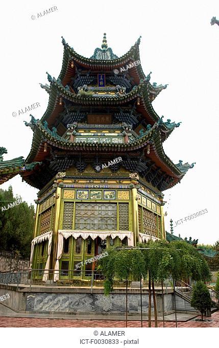 China, Gansu, Linxia, Chinase style mosque