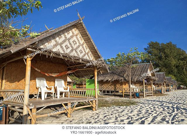 Resort by Andaman beach, Ko Lipe island, part of Tarutao national marine park, Thailand