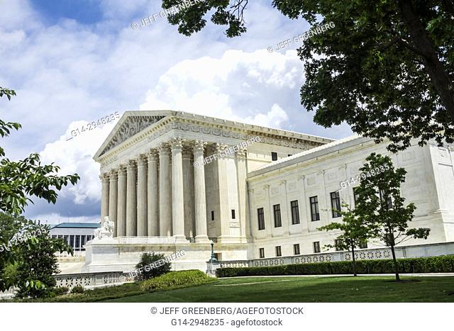 Washington DC, District of Columbia, Supreme Court Building, main entrance, Neoclassical architecture, Corinthian columns