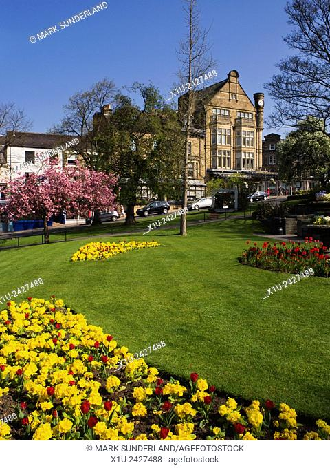 Bettys from Gardens on Montpelier Hill in Spring Harrogate North Yorkshire England