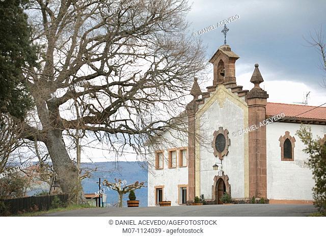 Santuario de Ibernalo, Sanctuary, Santa Cruz de Campezo, Álava, Basque Country, Spain, Europe