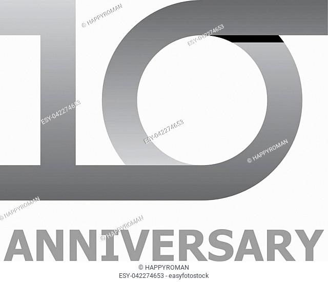 10 years anniversary number - illustration for the web