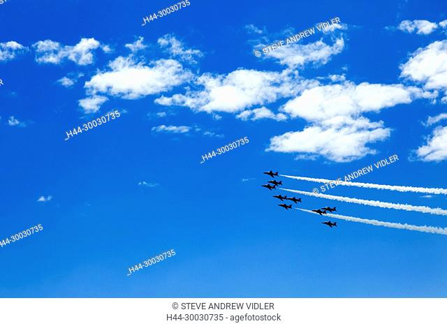 England, East Sussex, Eastbourne, The Annual Airbourne Air Show, The Red Arrows