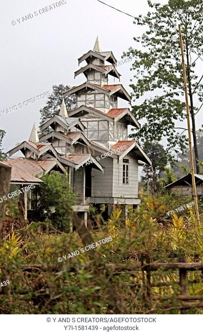 Buddhist Temple, Miao, Arunachal Pradesh, India