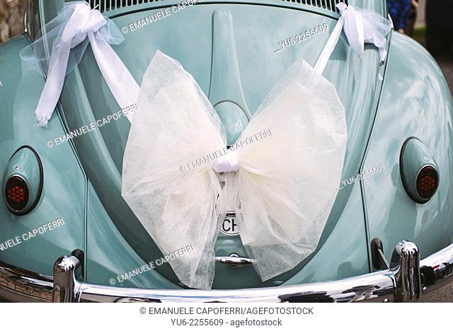 Back Beetle decorated for wedding