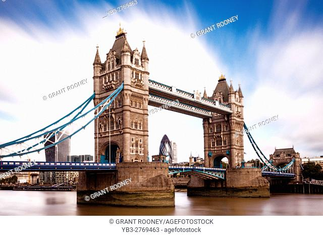 Tower Bridge and River Thames, London, England