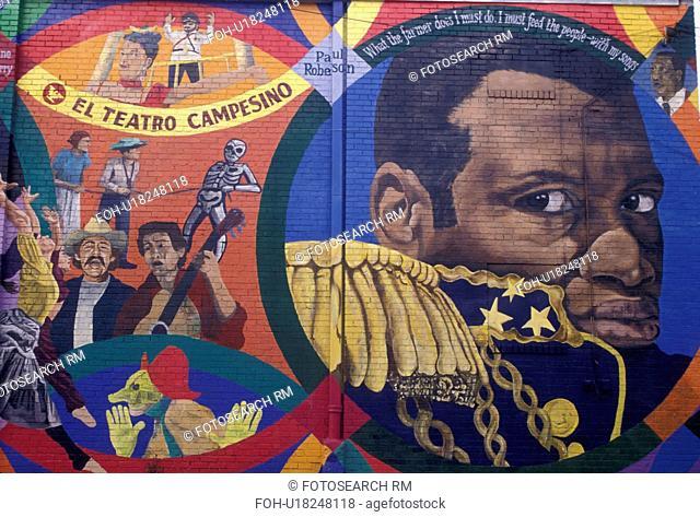 wall mural, Atlanta, Georgia, L5P, Mural painting at Little Five Points in Atlanta in the state of Georgia