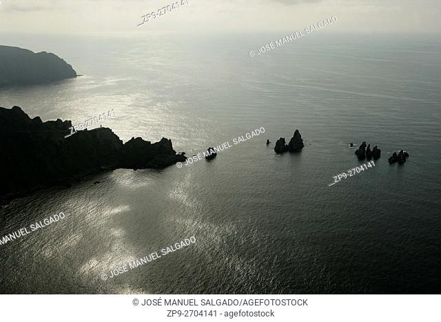 Aerial view of Cape Ortegal in North Galicia, Spain