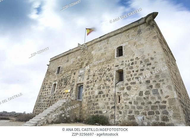 San Jose tower in Tabarca, is an islet located in the Mediterranean Sea, close to the town of Santa Pola, in the province of Alicante, Valencian community