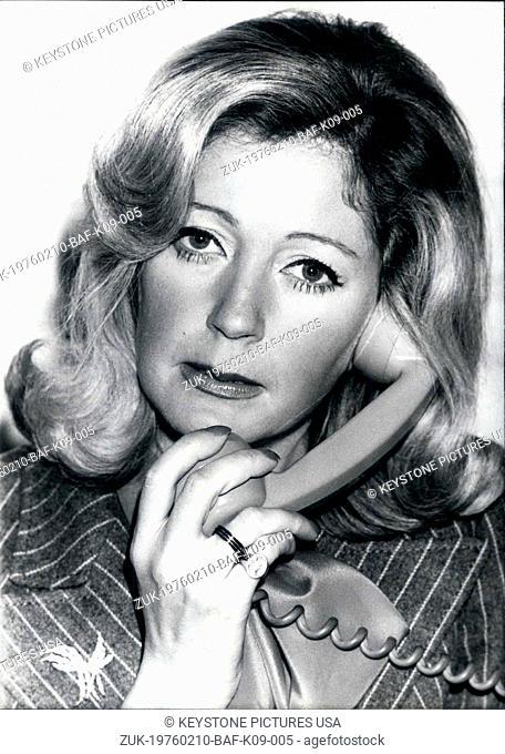 Feb. 10, 1976 - Brigitte Gastines of French organization SVP (Credit Image: © Keystone Press Agency/Keystone USA via ZUMAPRESS.com)
