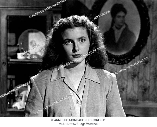 Portrait of Cristina Loris in Doomed. Portrait of Italian actress Cristina Loris in the film Doomed. Italy, 1951