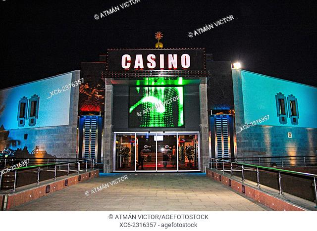 Casino of Maspalomas municipality at night. Gran Canaria island