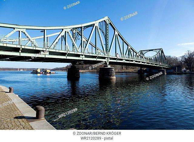 Glienicker bridge and push boat