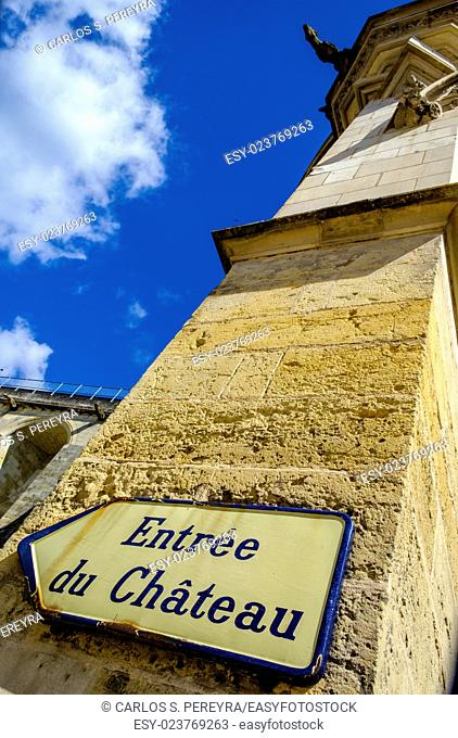 Touristic information in Loire Valley, Indre-et-Loire, France