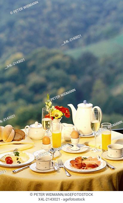 breakfast table, outdoor