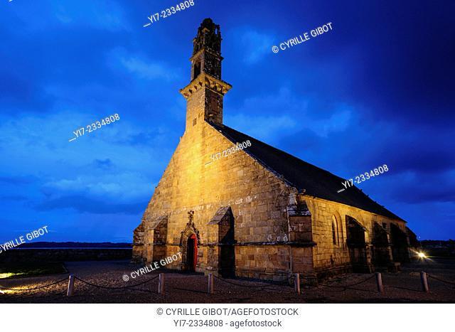 Notre-Dame-de-Rocamadour, or the Church of the Fishermen, Camaret-sur-Mer, Crozon Peninsula, Finistere, Brittany, France